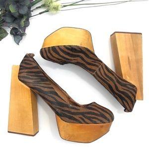 Jeffery Campbell Shoes Platform Animal Print Heels